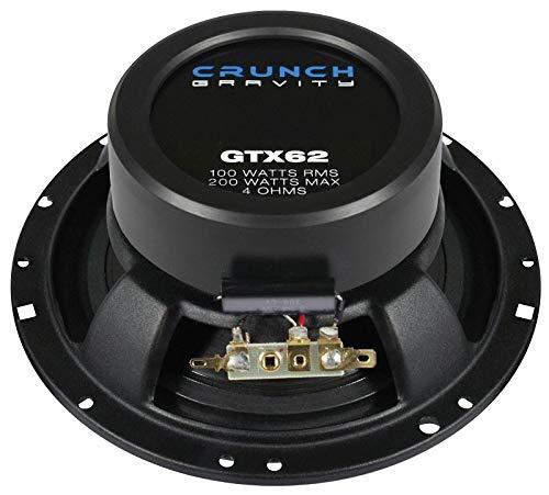 Crunch GTX62 Lautsprecher 400 Watt 16,5cm Koax inkl Einbauset f/ür Suzuki Swift FZ//NZ ab 09//2010