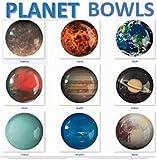trshops Planet Bowls of Solar System - Pluto Added 9 Melamine Bowls Set