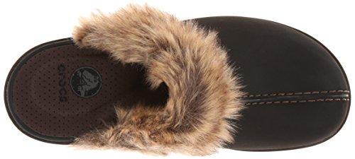 Crocs Women's Cobbler Fuzz Clog Mahogany/Black Aufc7YBE7