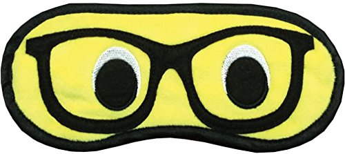 iscream Fun and Colorful Satin-Lined Silky Fleece Nerd Glasses Sleep Mask for - Glasses How Make To Nerd