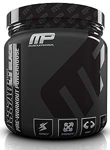 MusclePharm Assault Black Pre-Workout Supplement, Fruit Punch, 30 Servings
