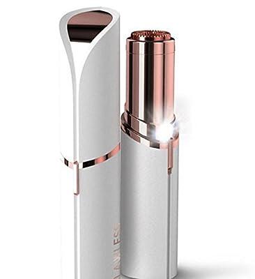 Bingirl Women's Electric Painless Hair Remover Gold-plated Lipstick Shape Depilator Epilator Style:Epilator
