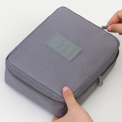 LULANSac cosmétique, petite taille dame simple et portable, sac de mini-,21*16.5*7cm, gris