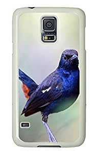 Samsung Galaxy S5 Indian Wildlife Birds PC Custom Samsung Galaxy S5 Case Cover White