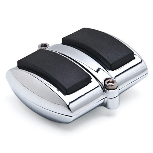 Chrome Brake Pedal/Heel Shift Pad Cover Rubber For Honda Shadow 750 Aero 2004-2009 Brake Pedal KapscoMoto
