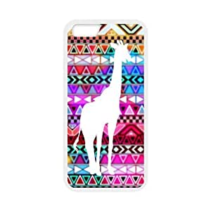 For iPhone 6 Case - New Funny Giraffe Art for iPhone 6 4.7 - PC and TPU Back Cover Case for iPhone 6 with 4.7 inch Screen