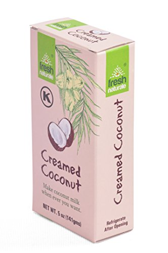 - Creamed Coconut 141 gms ( 5 oz ) from Fresh Naturale . Kosher Certified . (pack of 1)