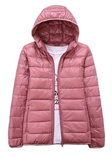 Outwear Hood Puffer Down Zip Weight Parka Pink Color Full Solid Ultra Light EnergyMen 8EHBgwqE
