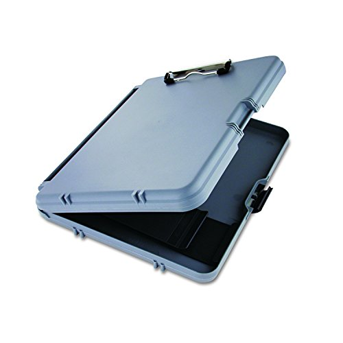 Saunders WorkMate 00470 Plastic Storage Clipboard - Gray, Letter Size Plastic Form Holder, 8.5 x 12 Inches, with Low Profile Clip ()