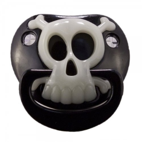 - Billy Bob BLACK PIRATE SKULL PACIFIER Baby Pacifier 90049 Original USA Brand by Preciastore