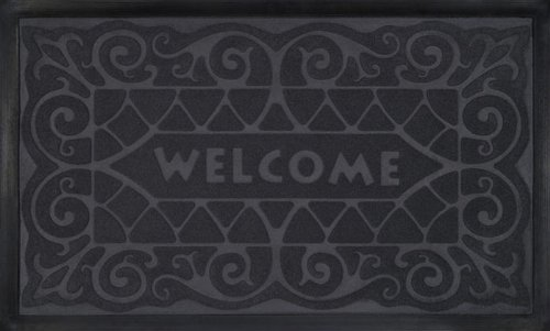 Park Avenue Collection Welcome Mat 18x30 Wrought Iron - Grey ()