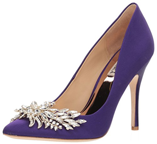 Badgley Mischka Women's Marcela Pump, Violet, 8.5 M US Purple Designer Shoes