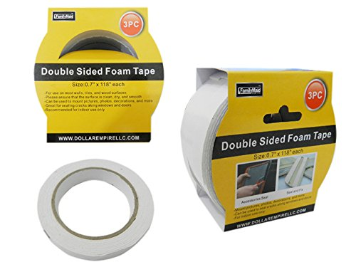 3 PC Double Sided Tape Size: 0.7'' x 118'' , Case of 96