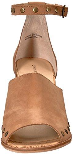 Sandalo Con Tacco Savana Cinese In Pelle Naturale