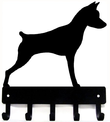 The Metal Peddler Miniature Pinscher Dog - Key Hooks & Holder - Small 6 inch Wide ()