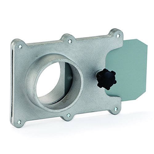 Dust Collection Fitting, Blast Gate, Aluminum, 2-1/2