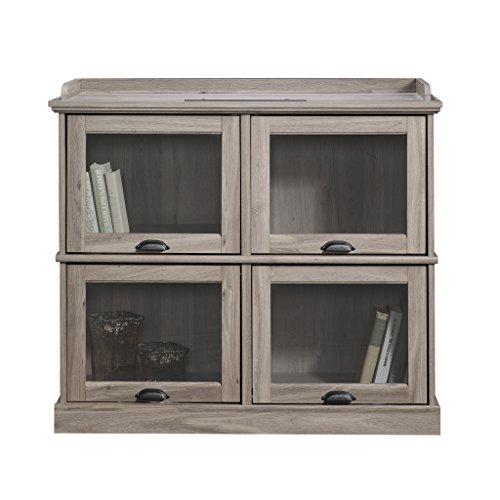 Sauder 414720 TV Stand, Furniture, Salt Oak (Salt Oak Tv Stand)