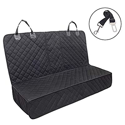 Dog Car Seat Cover ,Waterproof Pet Car Rear Seat Protector Compatible for Central Armrest,Suitable for Most Cars, SUV,Trucks