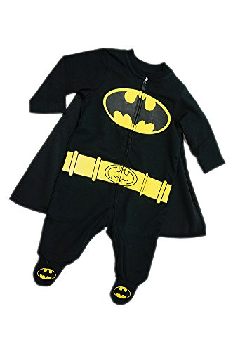 Newborn Batman Footed Onesie
