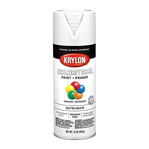 Krylon K05591007 COLORmaxx Spray Paint Aerosol White