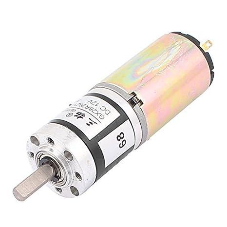 DC12V 35RPM 28mm Diámetro del esfuerzo de torsión del motor DC Caja de engranajes reductor de velocidad - - Amazon.com