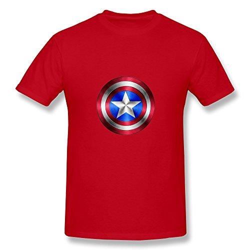 Men's Tee-Classic Captain America Shield Tees Size XL