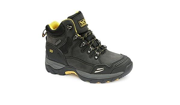 Wood World - Calzado de protección para Hombre Negro Negro: Amazon.es: Zapatos y complementos