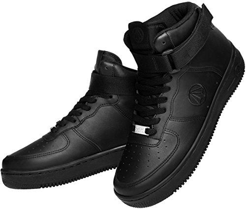 Shoes Black High Top Leather Unisex Fashion 1338 Sneakers Paperplanes Casual 1f8zATwq1