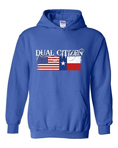 NIB Texas Hoodie Dual Citizen Texan Men's Hoodie (The Fashion Citizen Halloween)