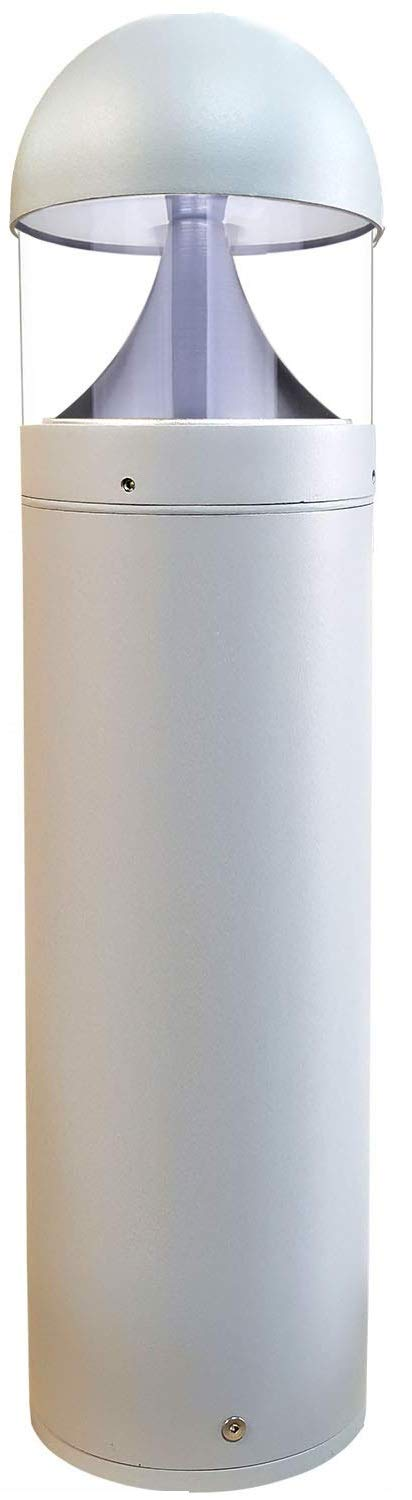 LED Grey Bollard Landscape Lights 26'' 10W 3000K 120-277V Commercial/Residential Lighting Fixture for Garden, Pathway, Driveway. Rated IP65 Suitable for Wet Locations, ETL Listed