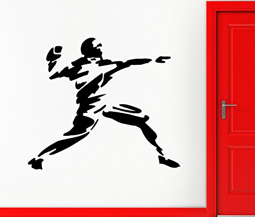 Large Wall Vinyl Sticker Decal American Football Throw Ball Player Rugby (ed420) Dark Blue