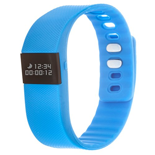 Zunammy Automatic Plastic and Rubber Fitness Watch, Color:Blue (Model: NWTR021BL)