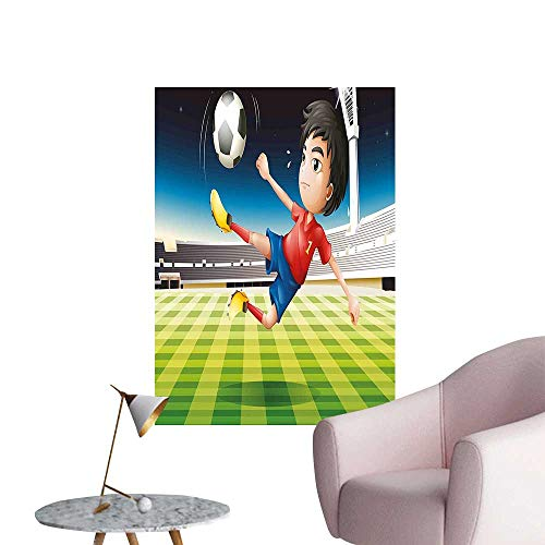 (Wall Stickers for Living Room Play Football The Stadium Sports Soccer Champi Ship Graphic Vinyl Wall Stickers Print,28