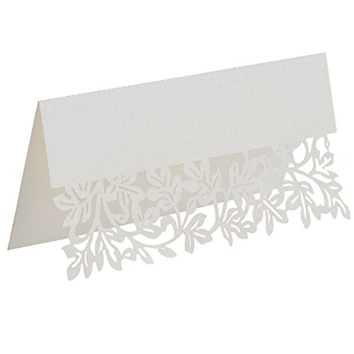 120pcs Laser Cut Place Cards,Wine Glass Card,Name Place Card,Escort Cup Cards,Suitable Decorations For Wedding Birthday Party (Wine Art Party Plates)