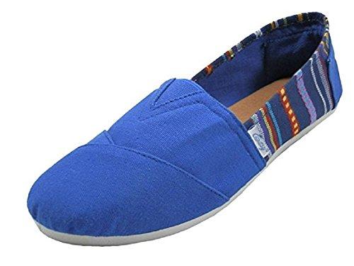 Scarpe 18 Scarpe Da Donna Slip On Shoes Appartamenti 2 Toni 10 Colori Blu 308l