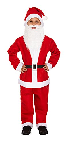 Henbrandt Small Santa Father Christmas - Child's Dressing Up Outfit (Ages 4-6 Years) -