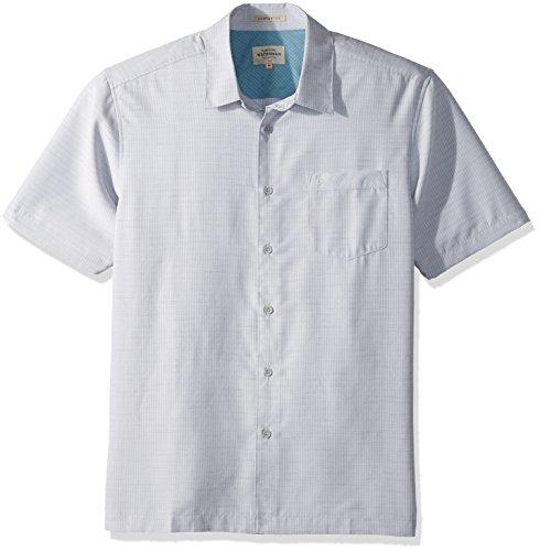 Quiksilver Waterman Men's Centinela 4 Button Down Shirt, Grey, ()