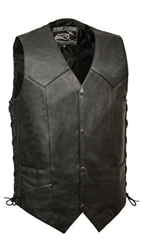 4 Pocket Leather Vest - 9