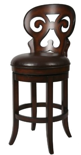 Russet Wood Cordovan - Pastel Furniture Hermosa 30 Barstool In Russet Cordovan Upholstered I