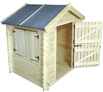 Niños casa de juguete Leonie 1,05 x 1,30 metros de 19 mm listones – Jardín