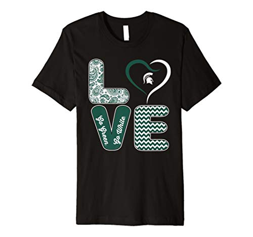 - Michigan State Spartans Stacked Love T-Shirt - Apparel