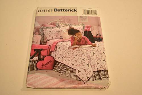 (Butterick BH565 Duvet, Bed Skirt, Shams, Pillows, Footstool Sewing Pattern - Uncut!)