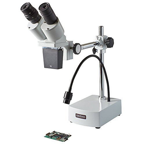 Omano OM-B10-L 10X Integrated Boom Stereo Inspection Microscope with 3W LED Gooseneck