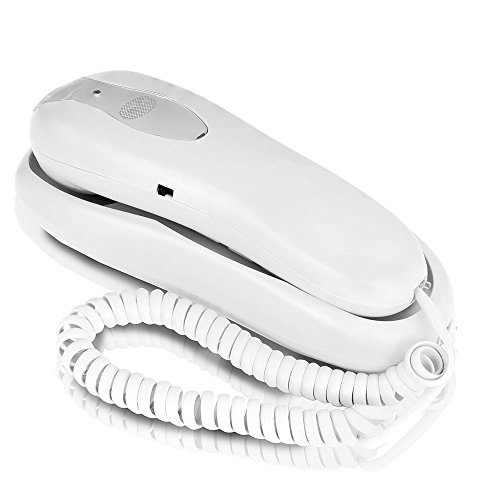 Slimline Phone For Wall Or Desk With (Wall Corded Telephone)
