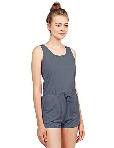 Awesome21 Womens Zipper Surplice Romper product image