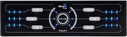 Aerocool F6XT - Panel de Control para Ventilador de Caja de Ordenador (Pantalla LED de 3.5