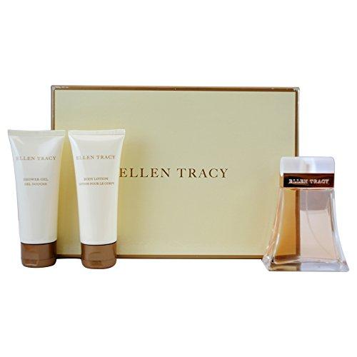 Tracy by Ellen Tracy for Women 3 Pc Gift Set 2.5oz EDP Spray, 3.4oz Body Lotion, 3.4oz Shower Gel ()