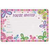 """20 """"Happy Birthday"""" Butterfly Party Invitations with Envelopes, 20-ct. Packs"""