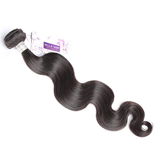 Bella Hair Grade 6A Peruvian Virgin Hair Body Wave Weave 1 Bundles Human Hair Weave Bundles 100g 24inch Natural Black Color