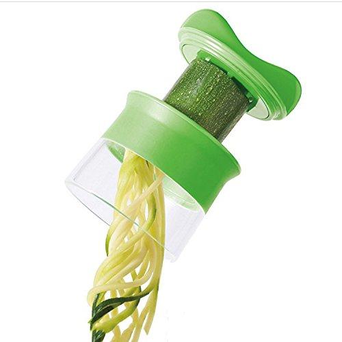 gets Fruit Vegetable Spiral Cutter Vegetable Tool Slicer Shredders Peeler Cutter Carrot Grater Cucumber (Skin Food Lettuce Cucumber)